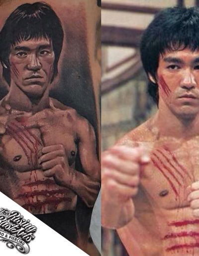 Bruce Lee tattoo by Jayvee