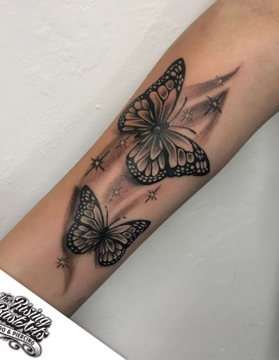 Butterfly tattoo by Ivan V.