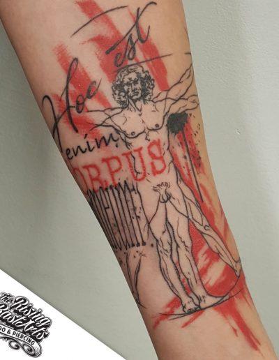 Greek tattoo by Ivan V.