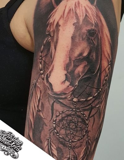 Horse tattoo by Ivan V.