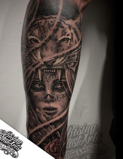 Mask tattoo by Jayvee