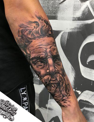 Poseidon tattoo by Ivan V.