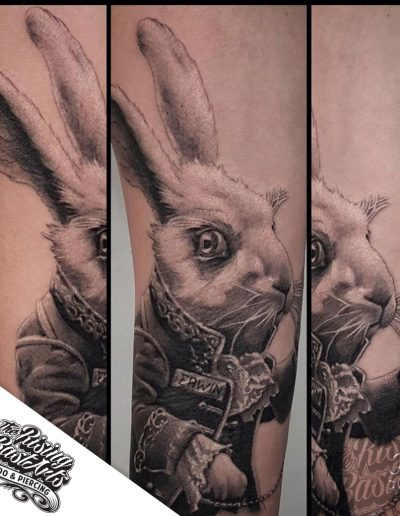 Rabbit tattoo by Jayvee